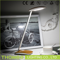 Wholesale new fashion led desk lamp home goods wooden color eye protection dimmable table lamps