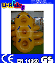 Pure PVC inflatable floating water tube for 3 riders