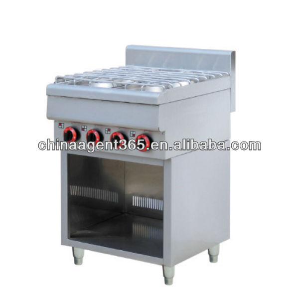 Gas cooking range with 4 burner & oven