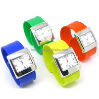 2017 eBay Hot Sale Large Square Silicone Wrist Watch Silicone Pockers / Negative Ion Watch / Nurse Watch