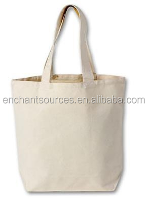 Promotional Blue cotton carrier bags printing custom logo