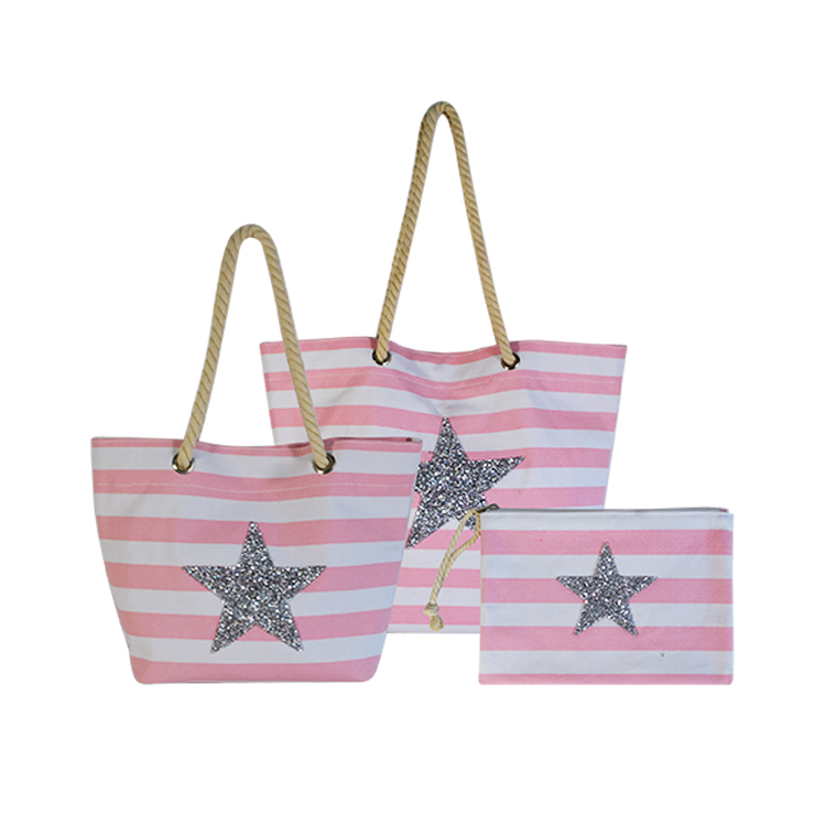 Professional custom all kinds of fashion mesh canvas beach bag