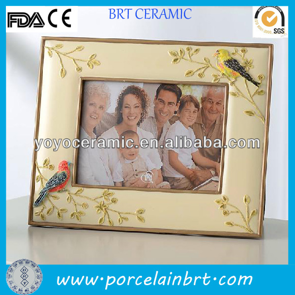 rectangle yellow birds resin souvenir picture frame