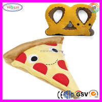 D519 Kids Toy Soft Pizza, Pretzels Stuffed Toy Cotton Food Plush