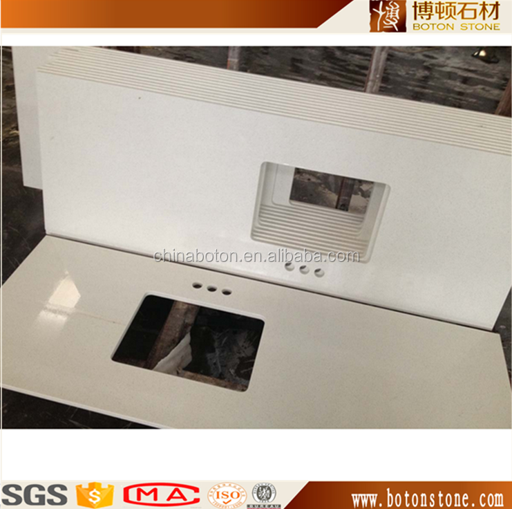 20mm Thickness Prefabricated Solid Surface Countertop