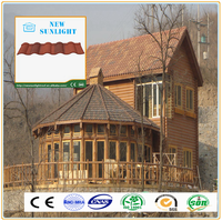 tile roof picture colorful stone coated steel roof tile long lifetime than shingles asphalt