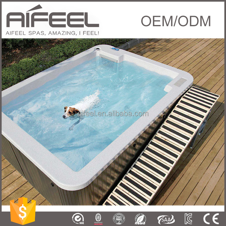Good quality hydro massage acrylic dog pool dog swimming for Barbie chien piscine