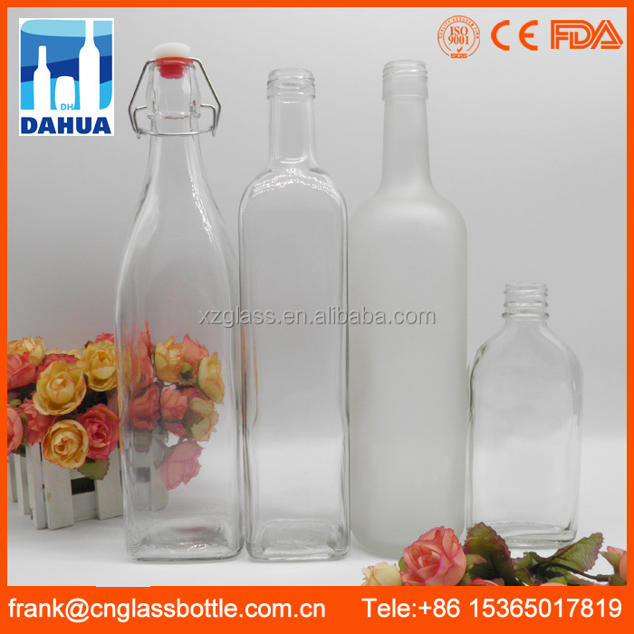 CE Custom Glass Water Bottle Supplier, Wholesale Juice Water Milk Glass Bottle Factory, Bulk Swing Top Glass Bottle Company