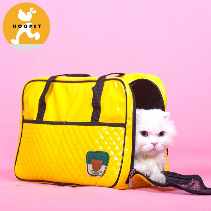 Stylish multifunctional pu tote pet bag carrier outdoor