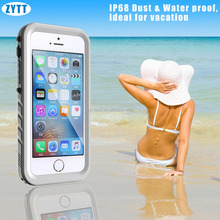 Pattern Phone Waterproof Case TPU Stand Flip Leather Cover for iPhone 5 4.0 waterproof case