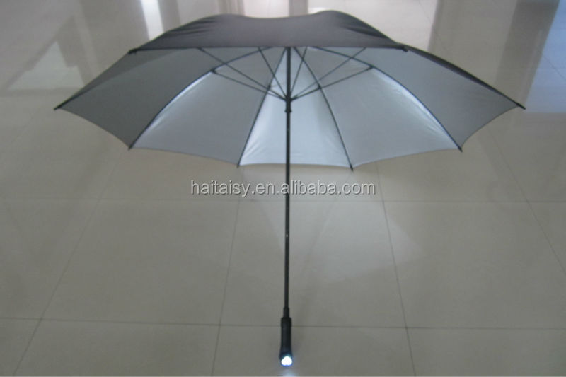 Ladies electric umbrella led light with solar panel and plastic handle,Solar umbrella lights with plastic handle