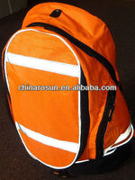 High visibility BACKPACK COVER ORANGE with reflective strips