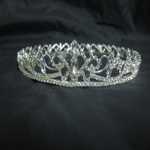 New designs rhinestone royal accessories cheap pageant crown tiara Miss small crown