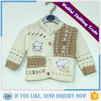 New Cute Knitted Pattern Long Sleeve Handmade Baby Sweater