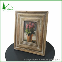 Vintage nature pine wood picture photo frame