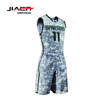 Sports basketball jersey / camouflage basketball uniform design / basketball shorts