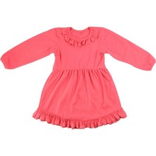 High Quality Kids Dressses Boutique Toddler Solid Cotton Traditional American Children Fancy Dress Girls blank dresses
