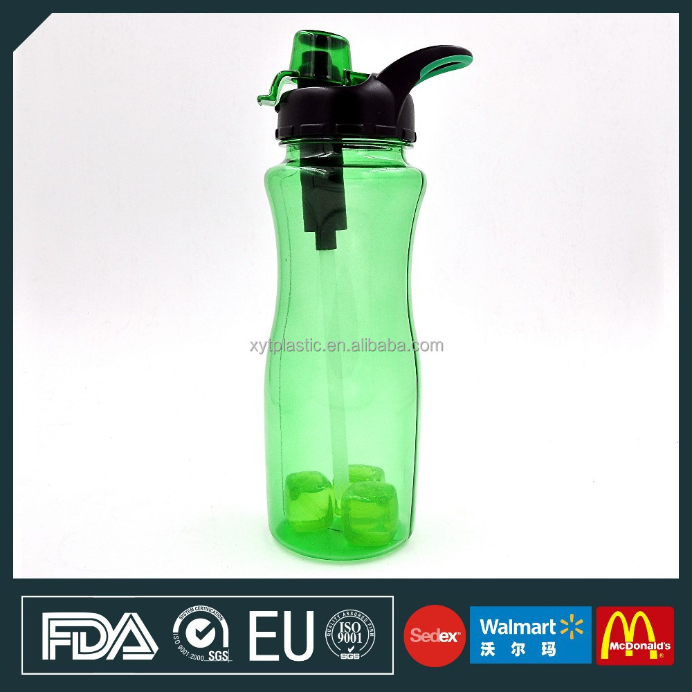 High Quanlity Plastic tritan filter the water bottle and ice cube