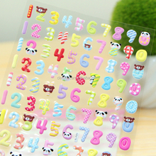 Cartoon Animal Numbers & Letters 3D Puffy Sticker