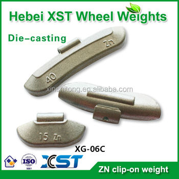 zn clip on wheel weights used for steel wheels