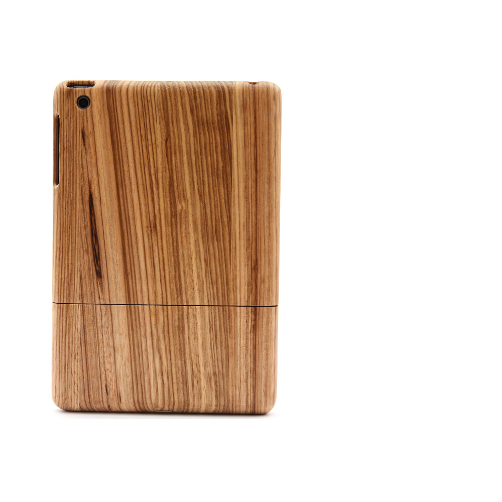Wholesale Natural Real Wood Case Standing for tablet computer real wood case