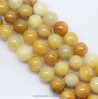 8mm round Jewelry Accessories yellow topaz strand natural loose gemstone