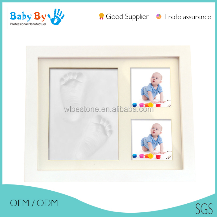 Children handprint and footprint educational toys baby imprint kits