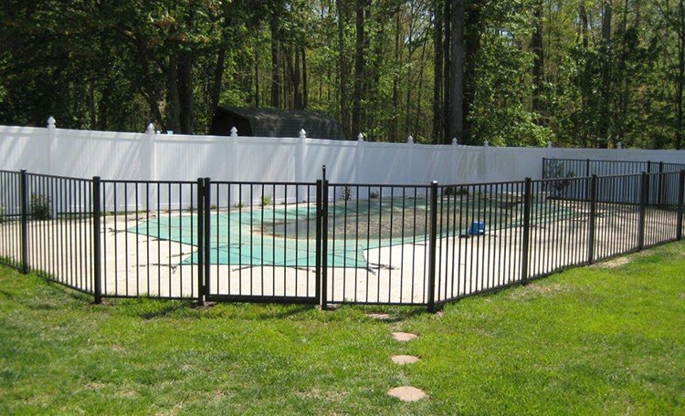 Portable Aluminum Fencing : Swimming pools fence safety portable pool chicken