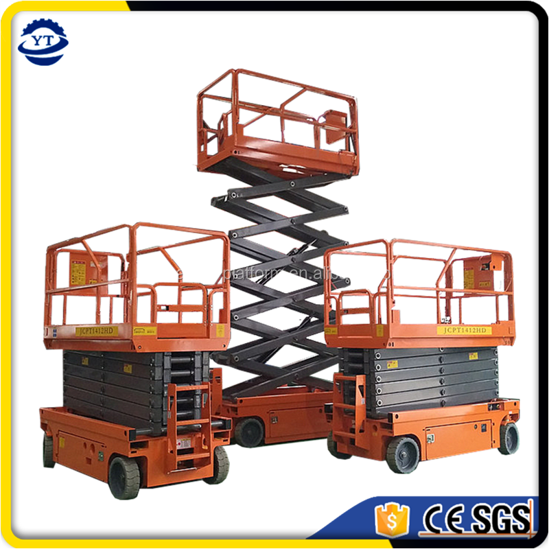 small electric jlg scissor lift platform, electric automatic scissor lifter table