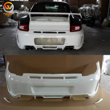 FPR Fiberglass Side Skirts Front Bumper PD Body Kit For 2005-2011 Carrera 911 997