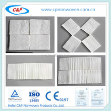 Sterile disposable medical dry wipe ( white paper toweling) with high quality
