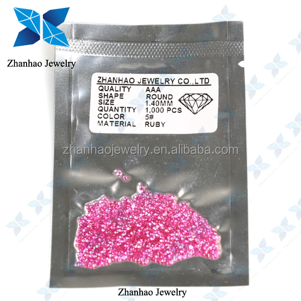Synthetic Corundum High Quality Round Ruby5# Gem Price with Made in China