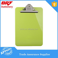 Plastic customized colorful a4 size clipboard with butterfly clip