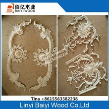 Rubber wood appliques furniture appliques and onlays
