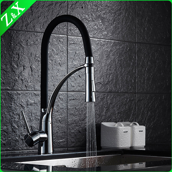 White body and white silicone tube kitchen sink faucet made in brass
