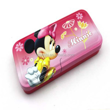 Supply Cute Children Cartoon Metal Pencil Box, Case