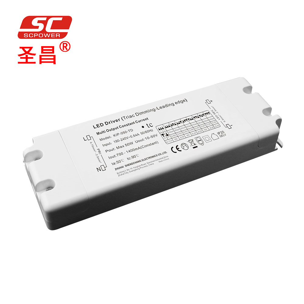 700ma 850ma 900ma 1050ma 1150ma 1250ma 1300ma 1400ma 50W DC PWM Constant Current Triac Dimmable LED <strong>Driver</strong>