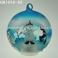 santa claus glass snow globe with LED light