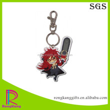 2017 cheapest rubber keyring customized 3d soft pvc keychain