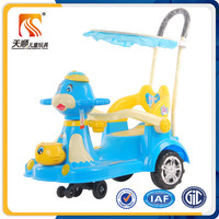 Ride on car toys riding baby swing car pushing baby twist car with canopy