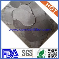 (10 years' factory)sus 304 Material 304 stainless steel filter mesh/high Type sintered filter disc