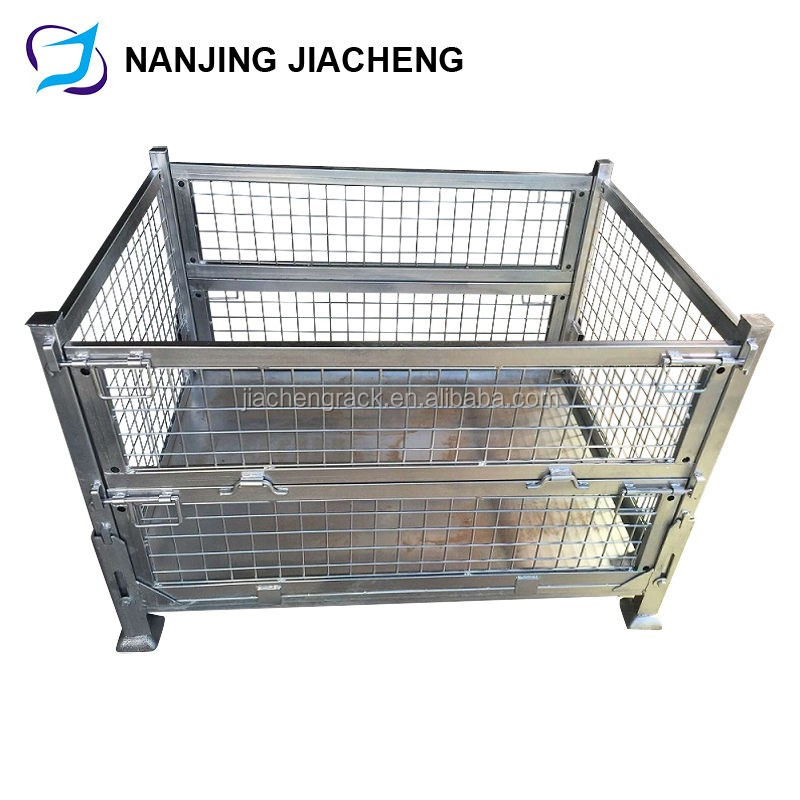 foldable and stackable galvanized steel cage