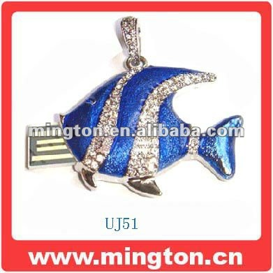 Promotional Fish jewelery usb flash driver