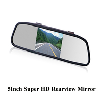 Factory direct supply 5 inch car rear view mirror monitor for rear view camera adapt for all kinds of cars