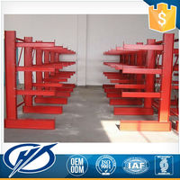 Durable Storage Warehouse Cooling Cantilever System Steel Racking