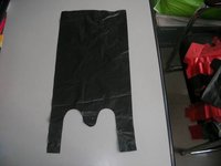 black thin small,middle size cheap T-shirt plastic grocery,shopping bag HDPE