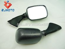 Motorcycle Rear Mirrors for 1999-2007 Suzuki GSX 600 750 1000 1300 Hayabusa Carbon Racing Mirrors OEM Replacement Mirror