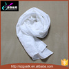 newest white long blank fashion 100% silk scarf plain scarf for painting natural silk scarf for dying