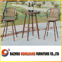 Modern appearance bar stool high chair for hot sale rattan outdoor furniture with new design