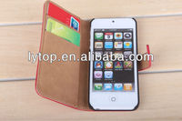 Card Holder Wallet PU Leather Case Cover For Apple iPhone 5 5G Flip